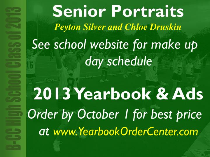 See school website for make up day schedule