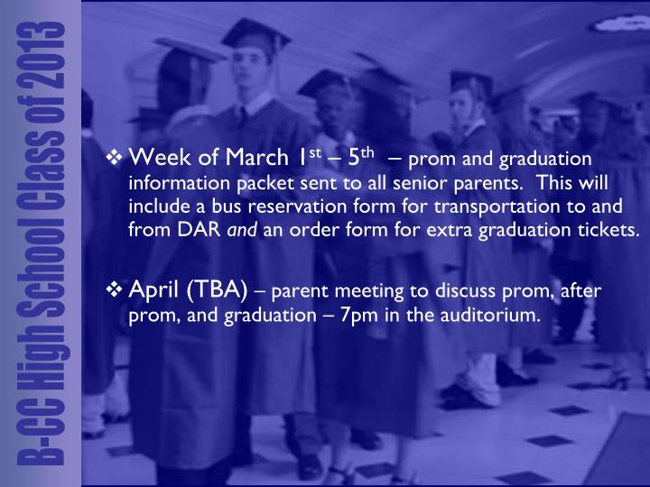 Week of March 1