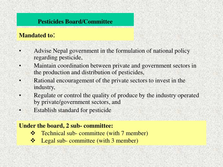 Pesticides Board/Committee