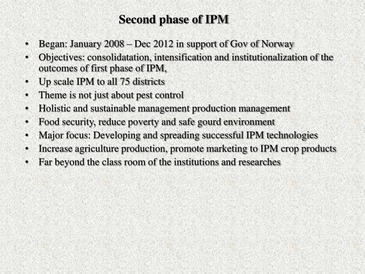 Second phase of IPM