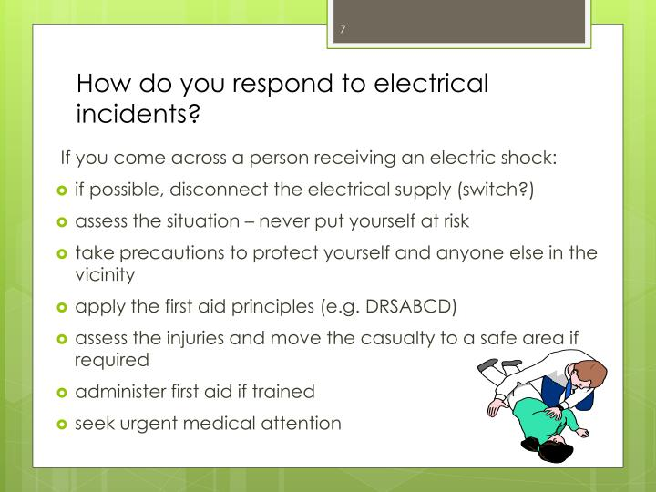 How do you respond to electrical incidents?