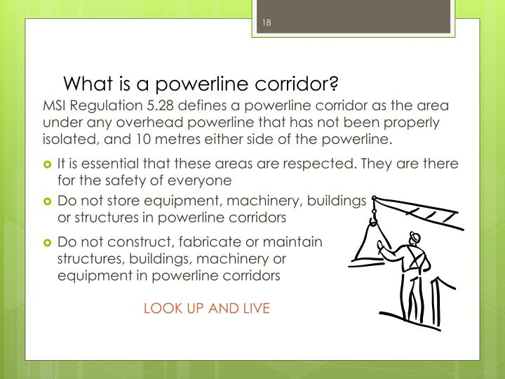 What is a powerline corridor?