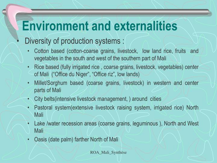 Environment and externalities