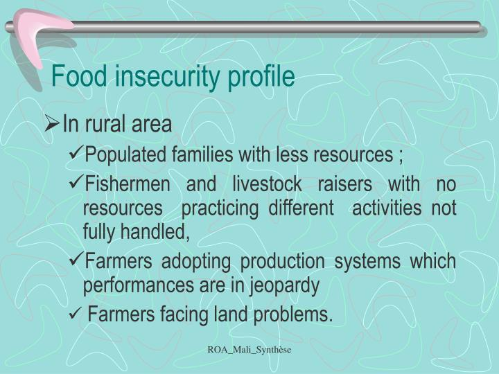 Food insecurity profile