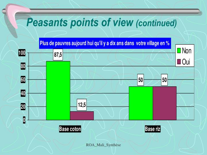 Peasants points of view