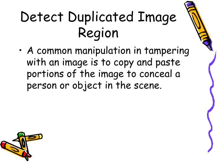 Detect Duplicated Image Region