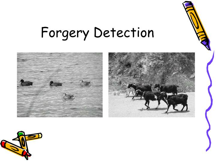 Forgery Detection