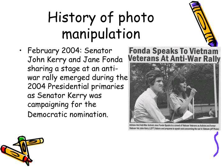 History of photo manipulation