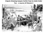 iriquois showing jacques cartier how to make cedar tea a source of vitamin c