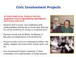 civic involvement projects