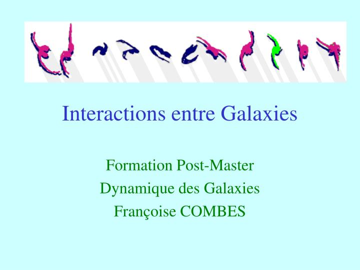 interactions entre galaxies n.