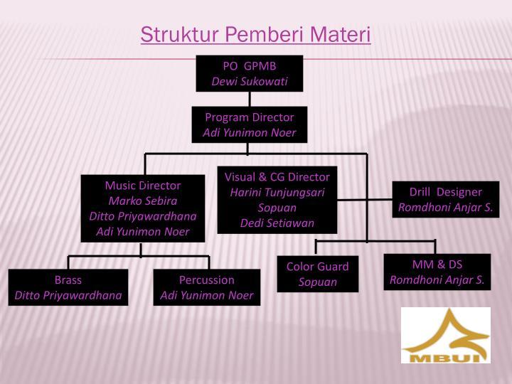 Struktur Pemberi Materi