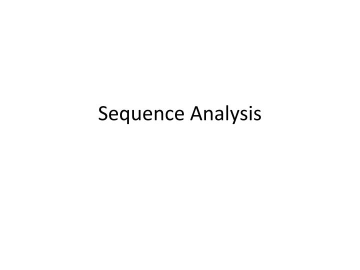 sequence analysis n.