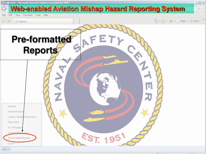 Pre formatted reports