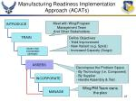manufacturing readiness implementation approach acats