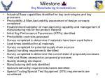 milestone b key manufacturing considerations