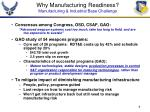 why manufacturing readiness manufacturing industrial base challenge