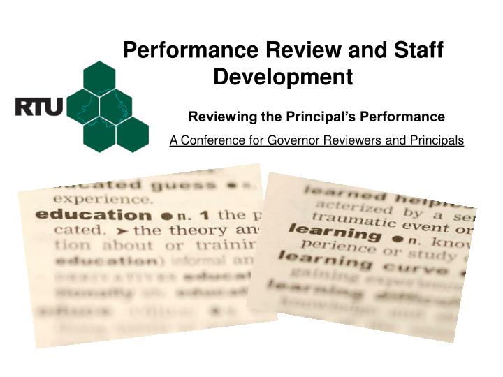 performance review and staff development n.
