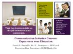 communication industry careers experience over education
