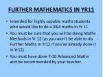 further mathematics in yr11
