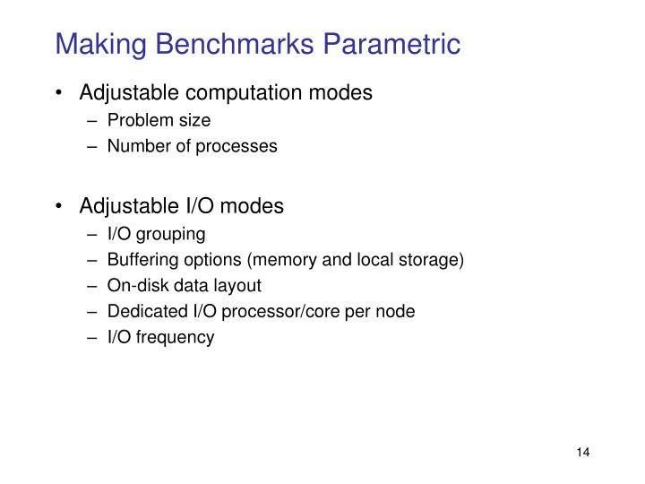 Making Benchmarks Parametric