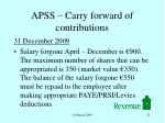 apss carry forward of contributions3