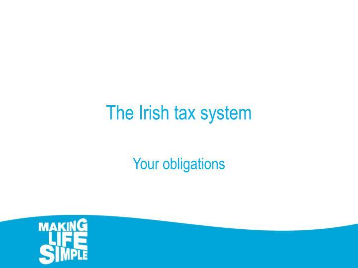 The Irish tax system
