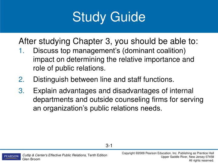 explain line and staff organization