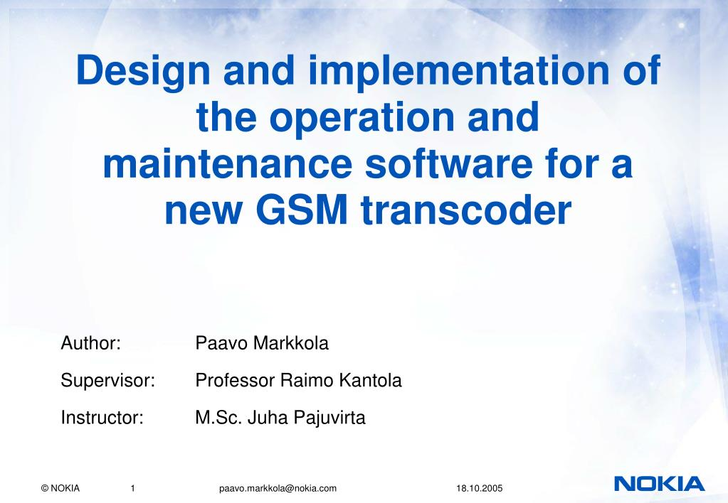 gsm implementation