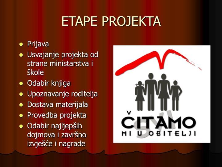 Etape projekta