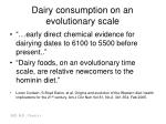 dairy consumption on an evolutionary scale