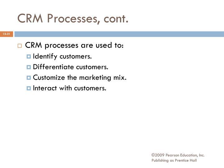 CRM Processes, cont.
