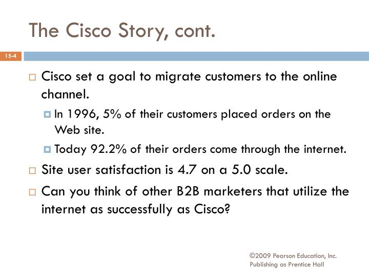 The Cisco Story, cont.