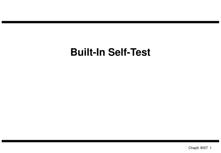 built in self test n.