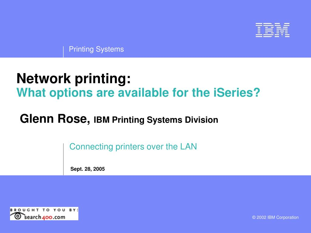 PPT - Connecting printers over the LAN PowerPoint
