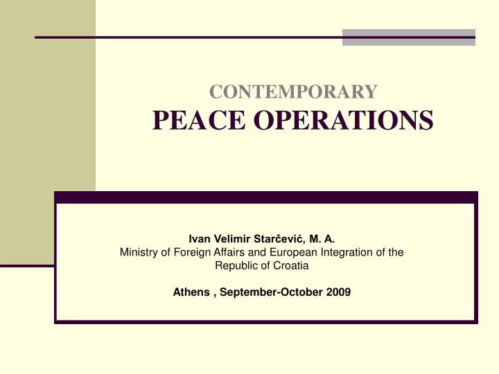 contemporary peace operations n.