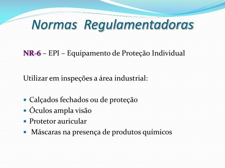 ed6f1007de41e Normas Regulamentadoras. NR-6– EPI – Equipamento de Proteção Individual