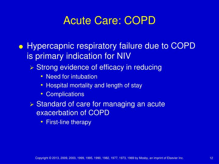 Acute Care: COPD