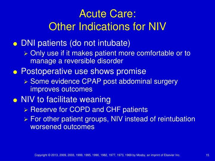 Acute Care: