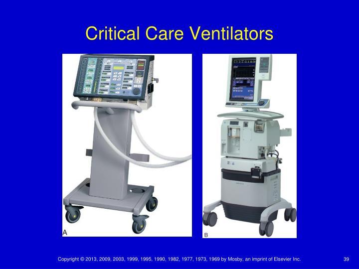 Critical Care Ventilators