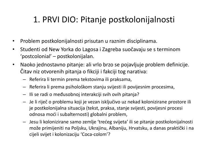 1 prvi dio pitanje postkolonijalnosti