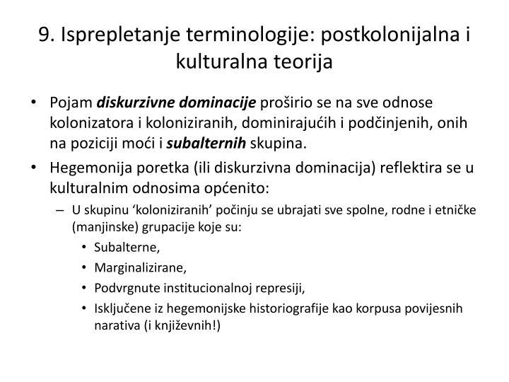 9. Isprepletanje terminologije: postkolonijalna i kulturalna teorija