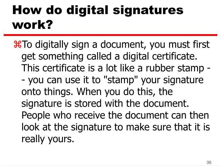 How do digital signatures work?