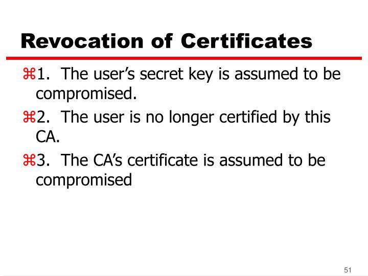 Revocation of Certificates