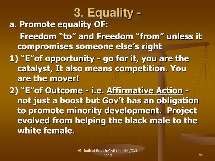 3. Equality -
