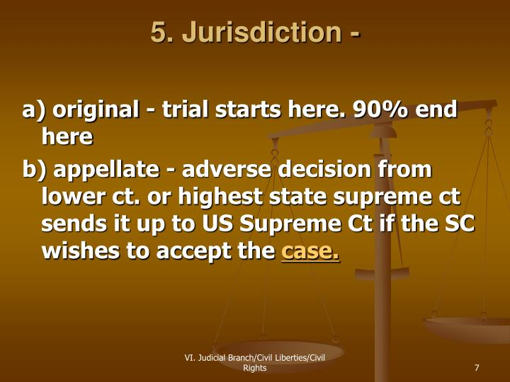 5. Jurisdiction -