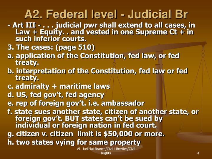 A2. Federal level - Judicial Br
