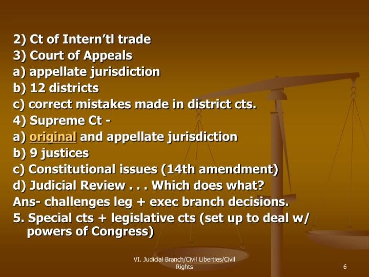 2) Ct of Intern'tl trade