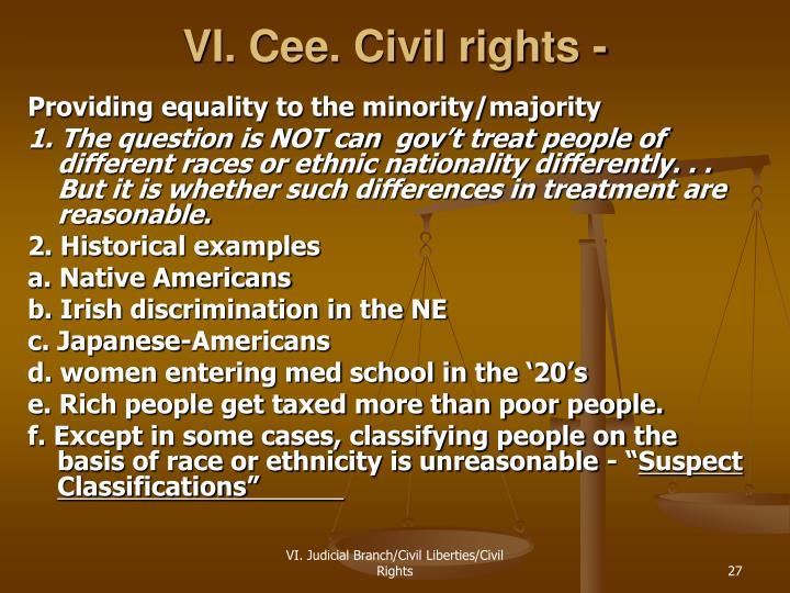 VI. Cee. Civil rights -