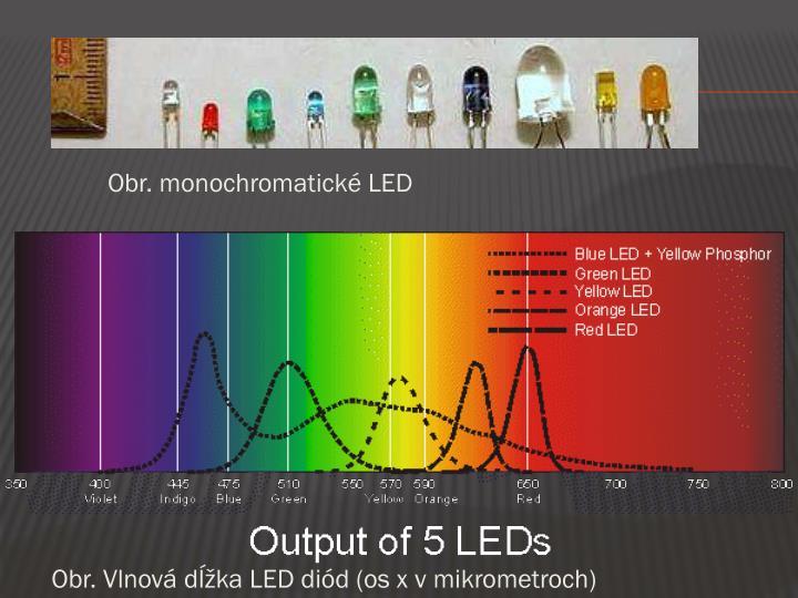 Obr. monochromatické LED